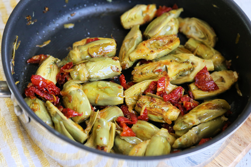 Baby Artichokes recipe with garlic and lemon