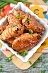 Bacon Wrapped Chicken wings appetizer