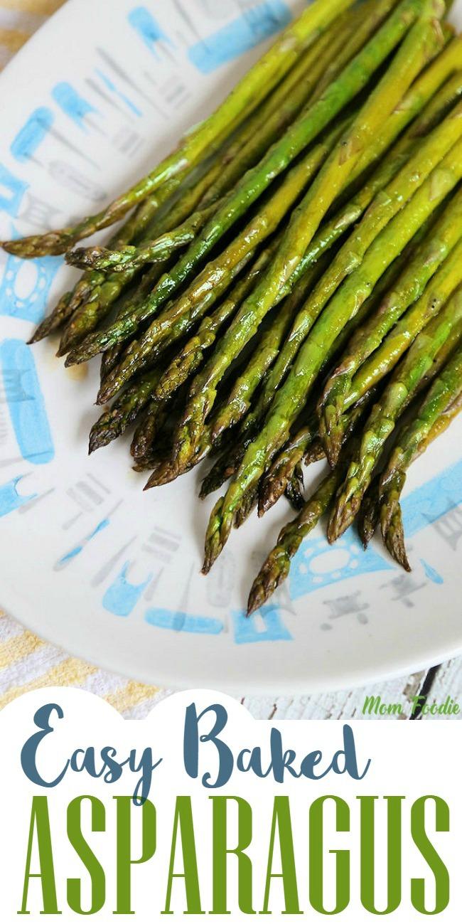 plated asparagus