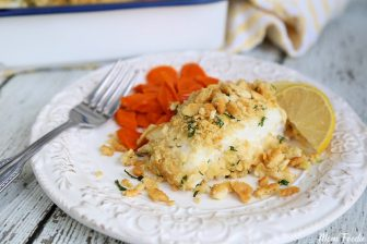 Baked Cod with Italian Cracker Topping