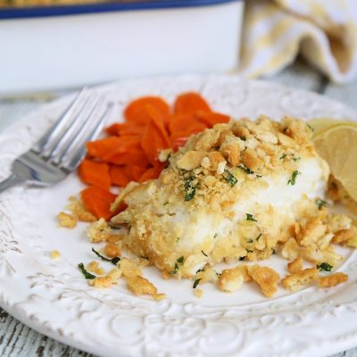 Baked Cod with Cracker Topping: Italian Style