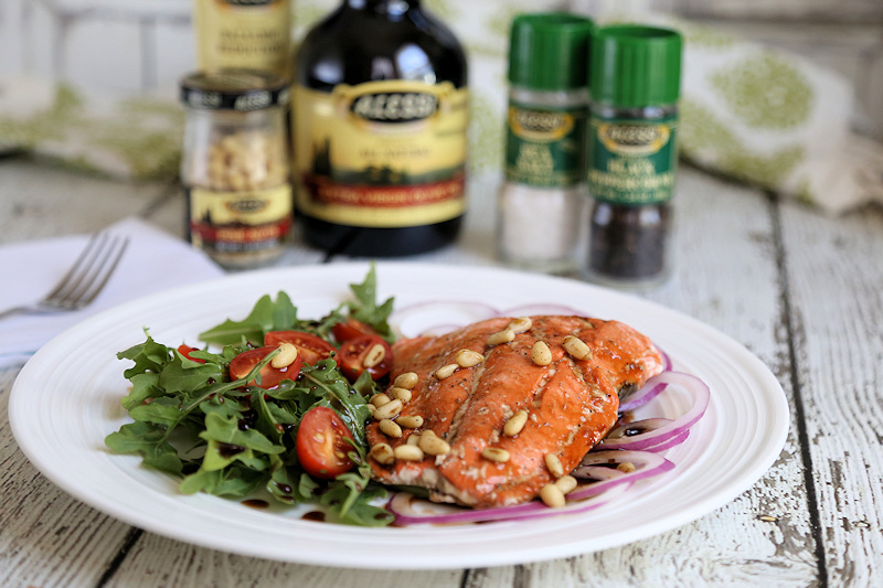 Balsamic Grilled Salmon Salad