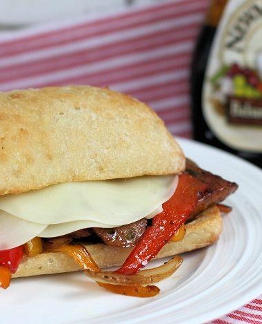 Balsamic Sausage Pepper & Onion Sandwich