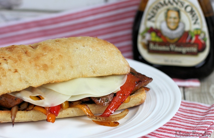 Balsamic Sausage Pepper & Onion Sandwich