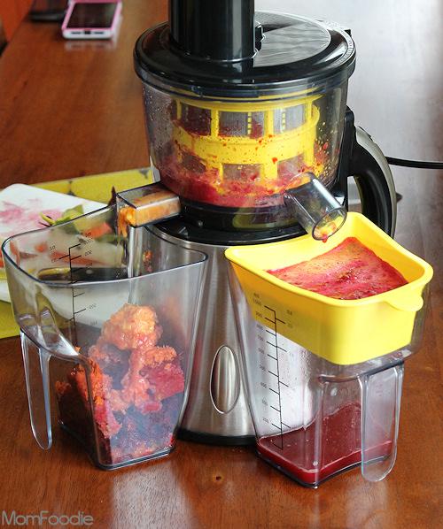 Bella Nutripro juicer review - making Mango Beet Juice