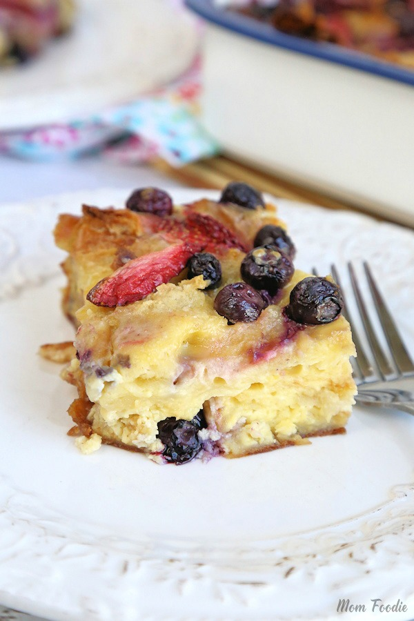 Berry Cream Breakfast Casserole