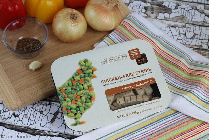 Beyond Meat Chicken-Free Strips - Vegan Fajita Skillet Recipe