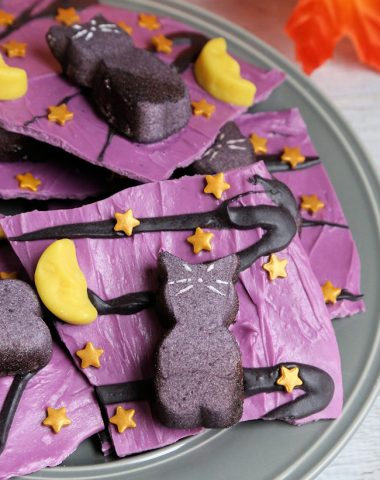 Black Cat Candy Bark