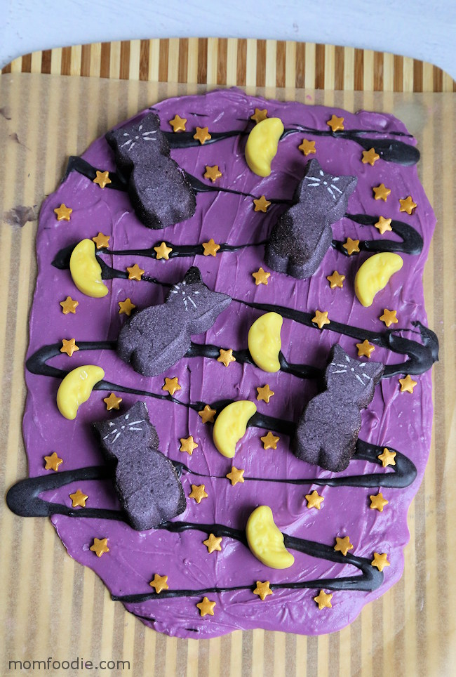 Black Cat Halloween Candy Bark