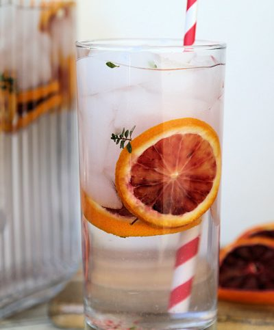 Blood Orange and Thyme Spa Water