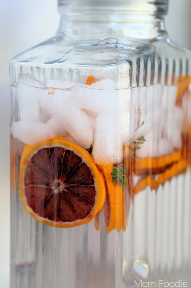 Blood Orange-Thyme Spa Water
