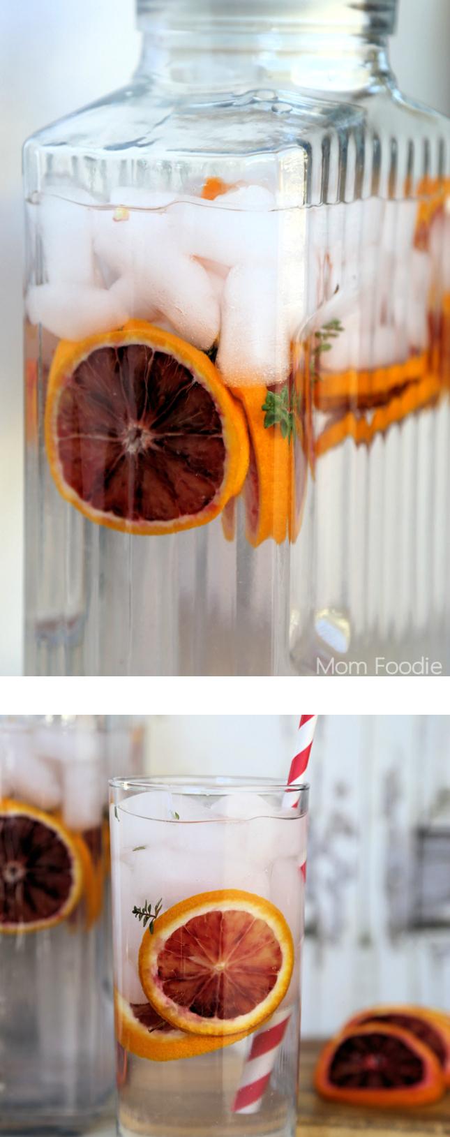 Blood Orange & Thyme Spa Water