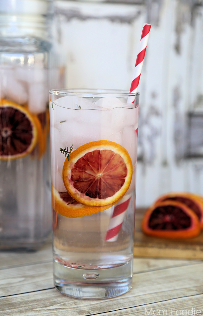 Blood Orange Thyme Spa Water