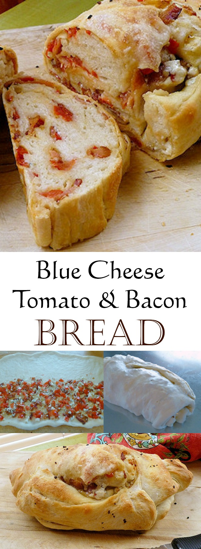 Blue Cheese Tomato Bacon Bread Recipe