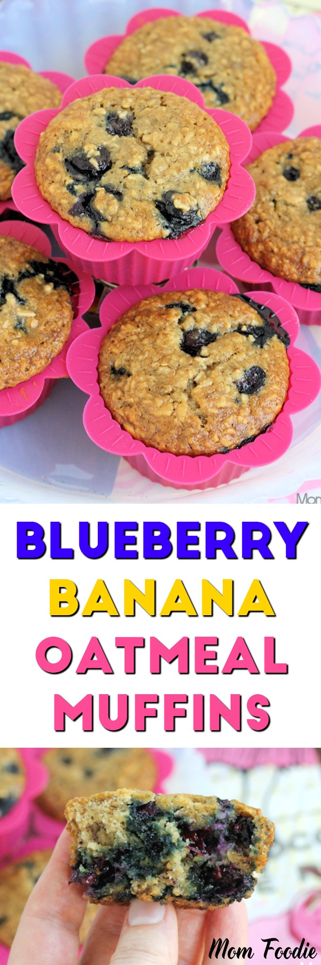 Blueberry Banana Oatmeal Muffins Recipe