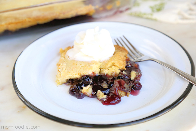 Blueberry Dump Cake slice