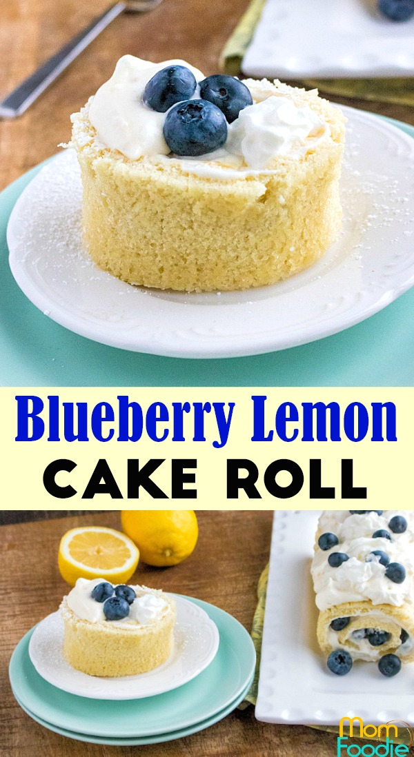 Blueberry Lemon Cake Roll Pinterest