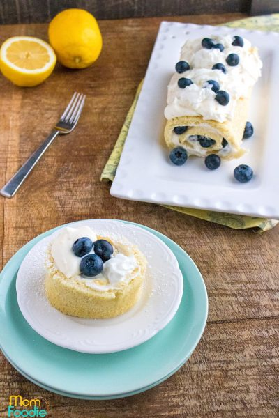 Blueberry Lemon Cake roll