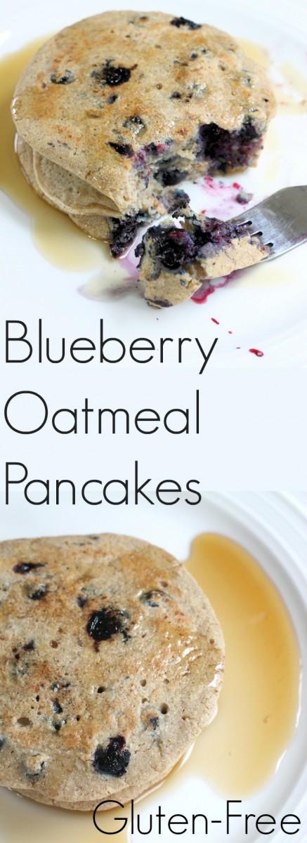 Blueberry Oatmeal Pancakes : Gluten-free recipe