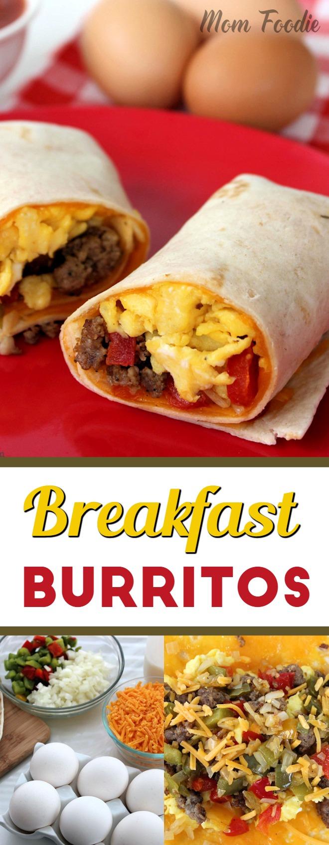 Breakfast Burritos - easy breakfast recipe