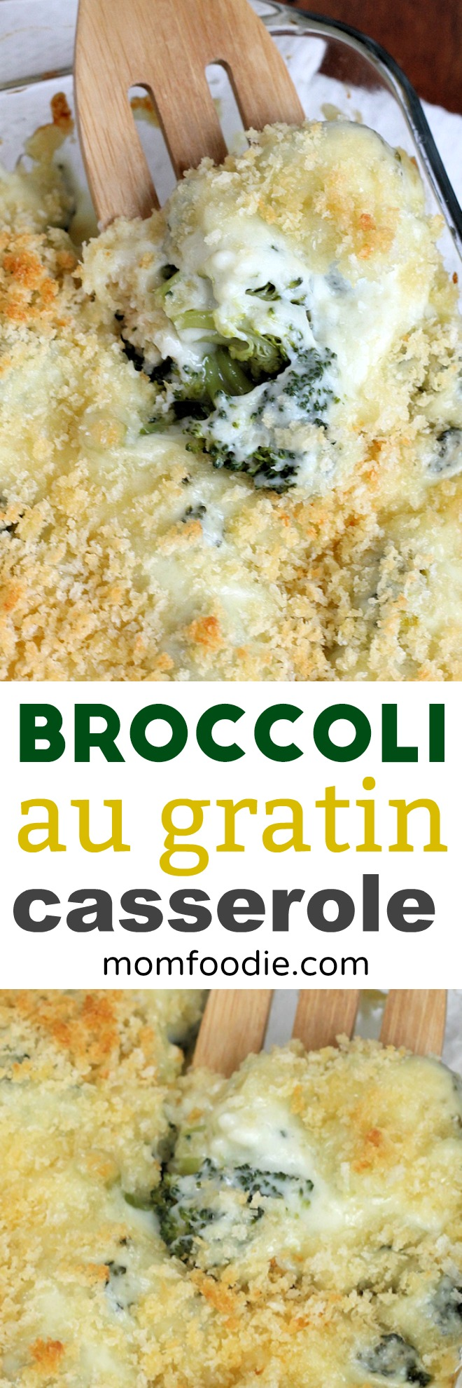 Broccoli Cheese Casserole - Easy Broccoli au Gratin Recipe #casserole #broccoli #comfortfood
