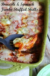 Broccoli Spinach Jumbo Stuffed Shells