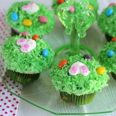 Easy Bunny Tail Cupcakes