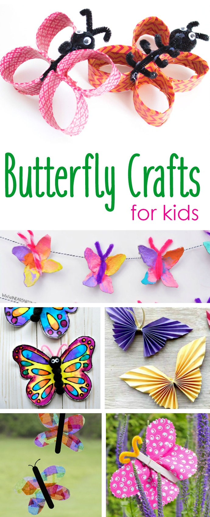 15 FUN  & EASY BUTTERFLY PAPER CRAFTS FOR KIDS + EDUCATIONAL BUTTERFLY VIDEOS