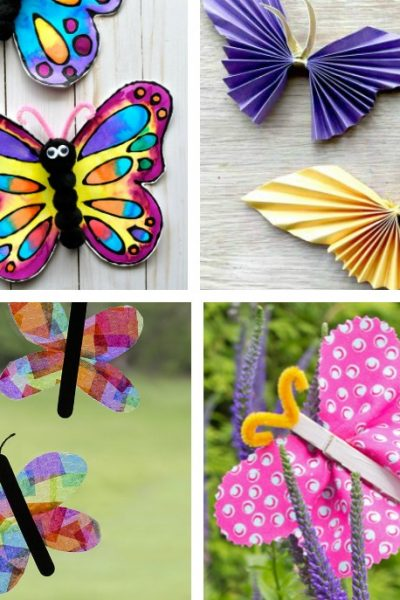 15 Fun Butterfly Paper Crafts for Kids + Educational Butterfly Videos