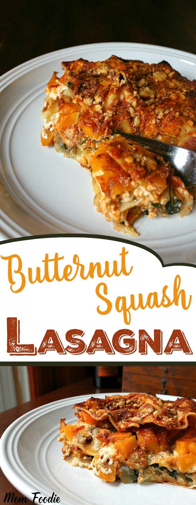 Butternut Squash Lasagna Vegetarian Recipe