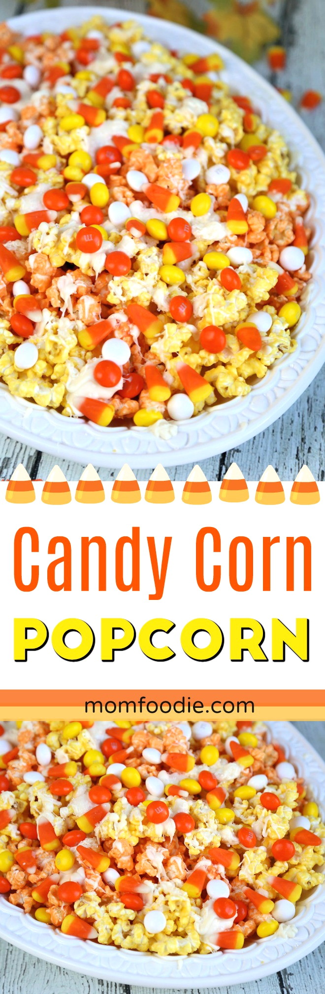 Candy Corn Popcorn recipe - Fall Snack Mix