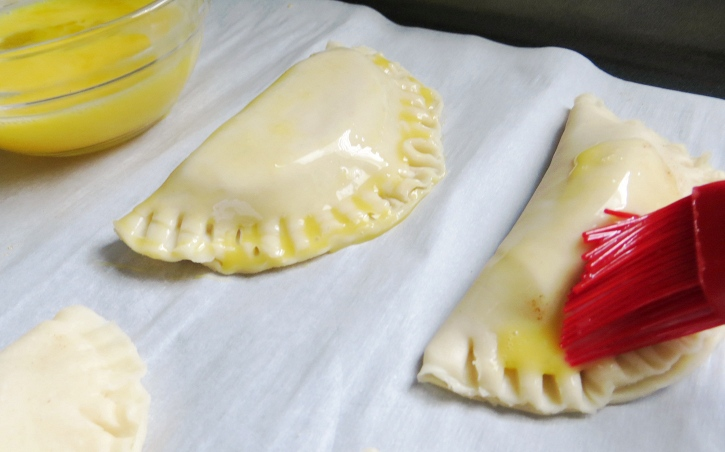 Caramel Apple Hand Pies finishing