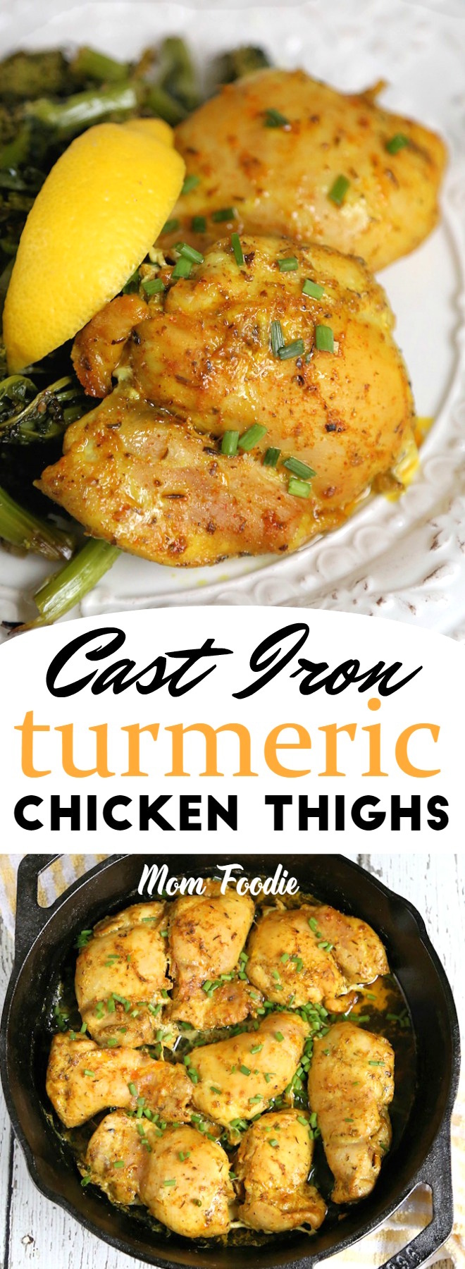 Cast Iron Turmeric Chicken Thighs Recipe - Keto Diet Recipe Low carb #keto #lowcarb #turmeric #castiron