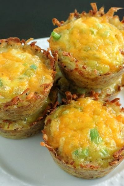 Cheddar Onion Hash Brown Cups feature