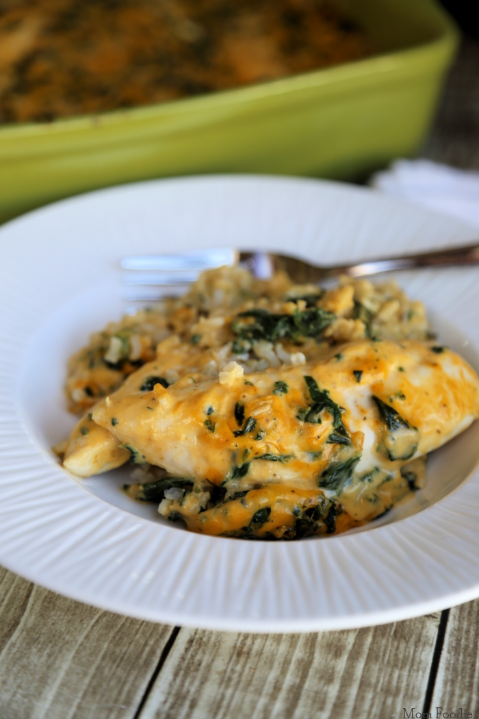 Cheesy Spinach Chicken & Rice Casserole 1