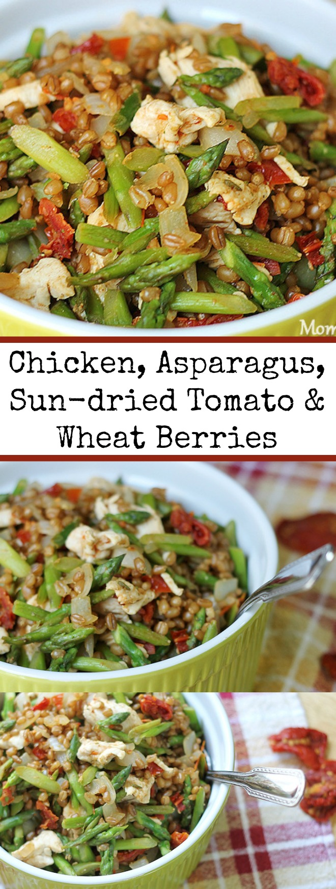 Chicken, Asparagus, Sun-dried Tomato and Wheat Berries