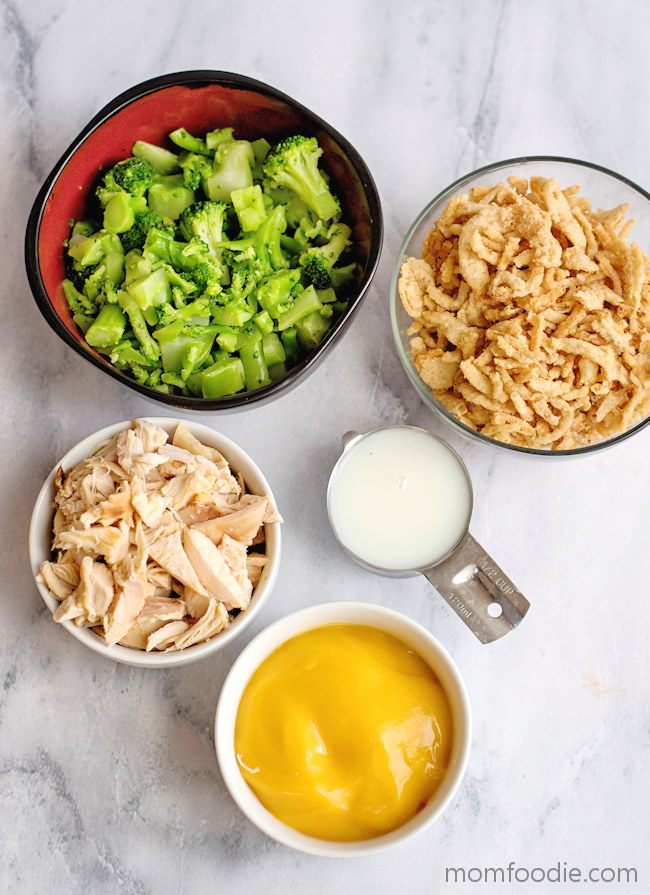Chicken Broccoli Cheese Casserole ingredients