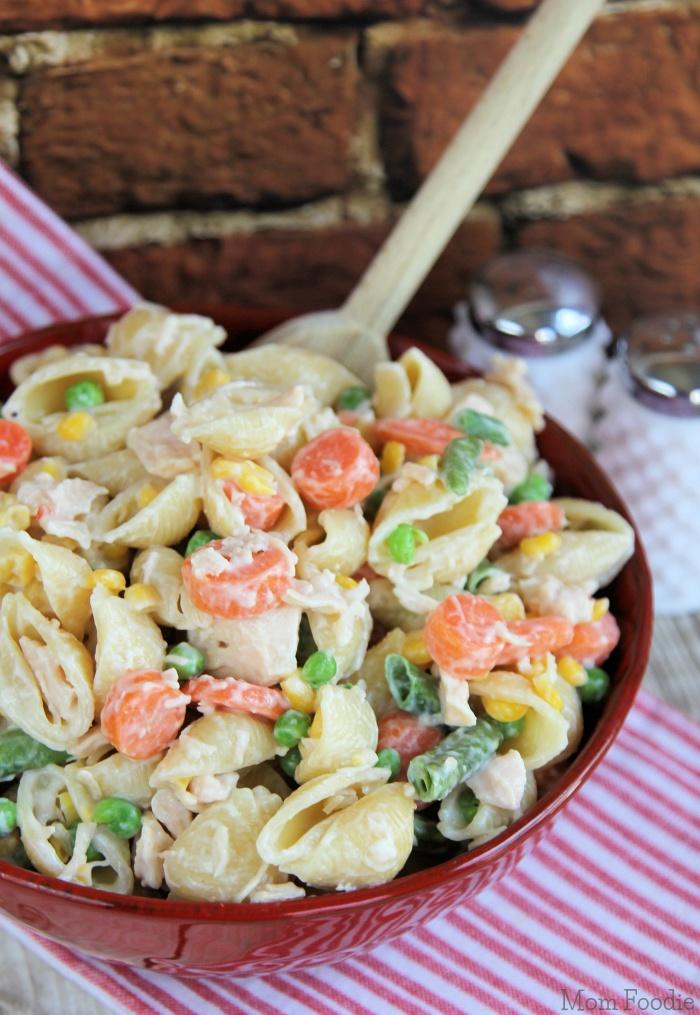 chicken dinner pasta salad easy weeknight recipe mom