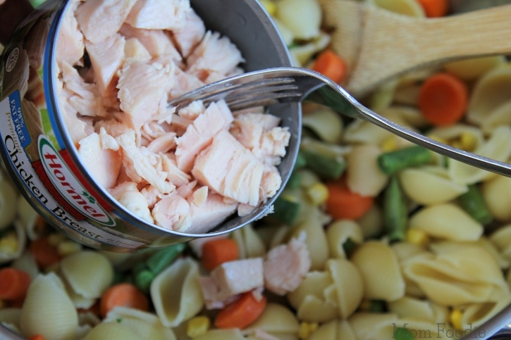 Chicken Dinner Pasta Salad - easy recipe