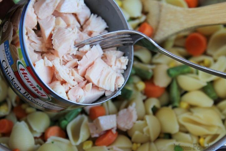 Chicken Dinner Pasta Salad - easy recipe