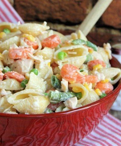 Chicken Dinner Pasta Salad : Easy Weeknight Recipe