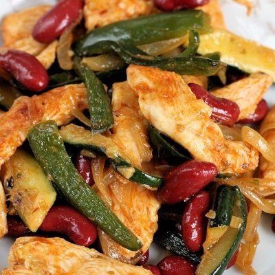 Chicken Poblabo & Bean Stir Fry