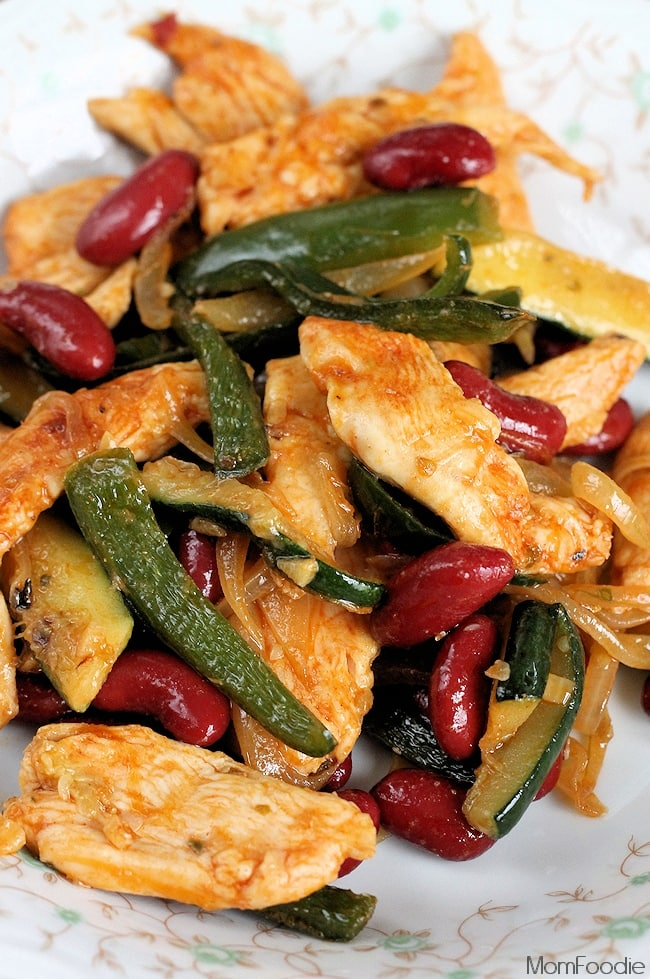 Chicken Poblano & Bean Stir Fry