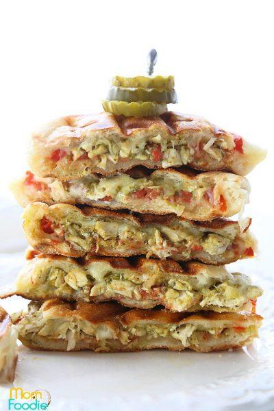 Chicken Pesto Panini sandwich