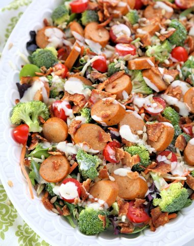 Chicken Sausage Bacon Ranch Salad