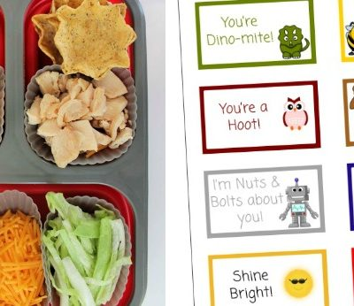 Chicken Taco Bento with Free Printable Lunch Box Notes