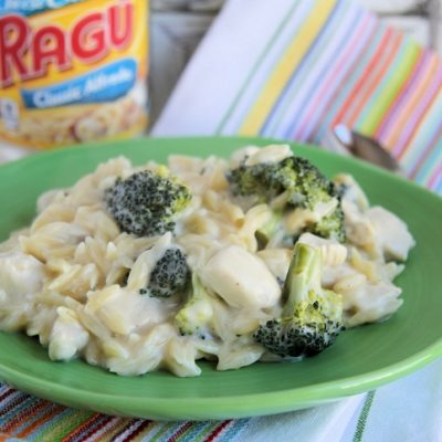 Chicken and Broccoli Alfredo Orzo
