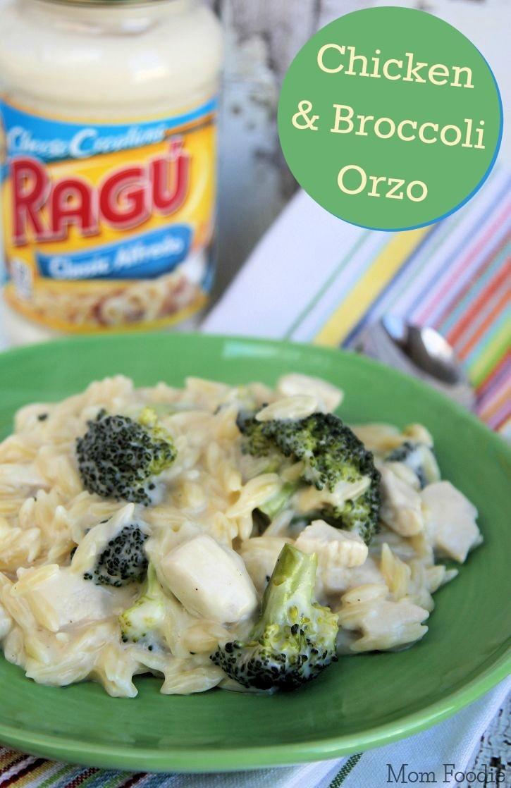 Chicken and Broccoli Alfredo Orzo One Pot Recipe