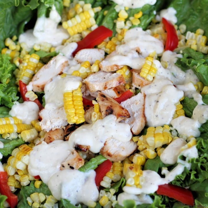 Chicken and Sweet Corn Salad Bowl