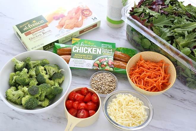 Chicken bacon ranch salad ingredients